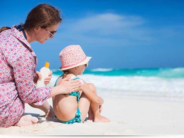 Что делать, если ребенок обгорел на солнце?